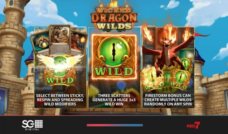 Wicked Dragon Wilds Slot Bonus Features