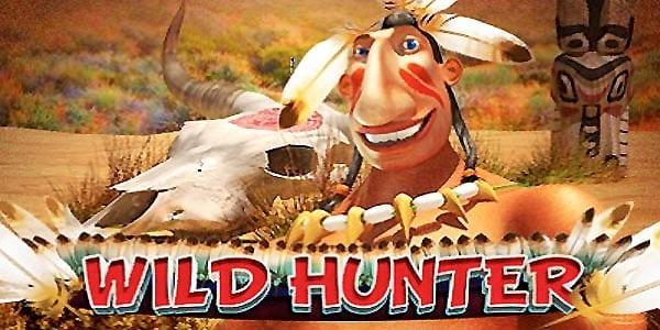 Wild Hunter online slots game logo