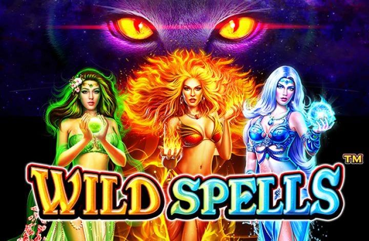 wild spells slots game logo