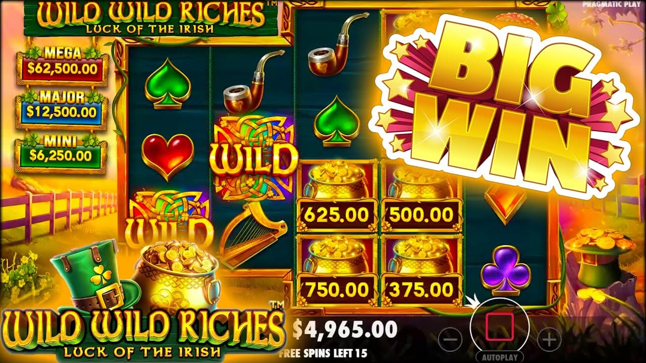 Wild Wild Riches Slot Big Win