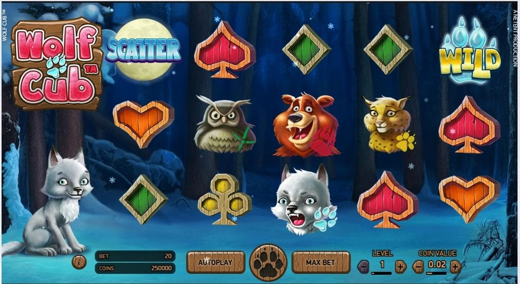 Wolf Cub slots gameplay