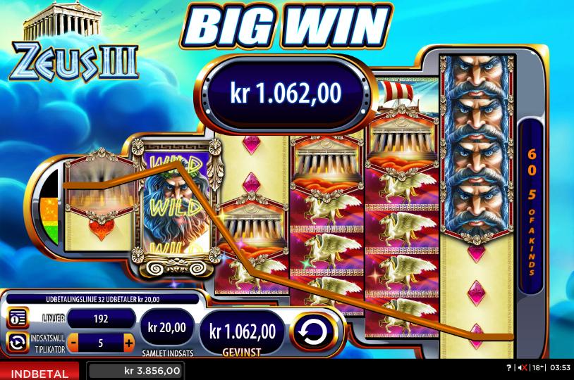 Zeus III Slots win