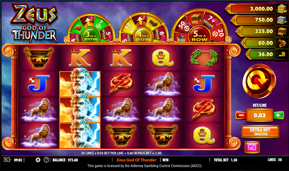 Zeus God Of Thunder Slot Game
